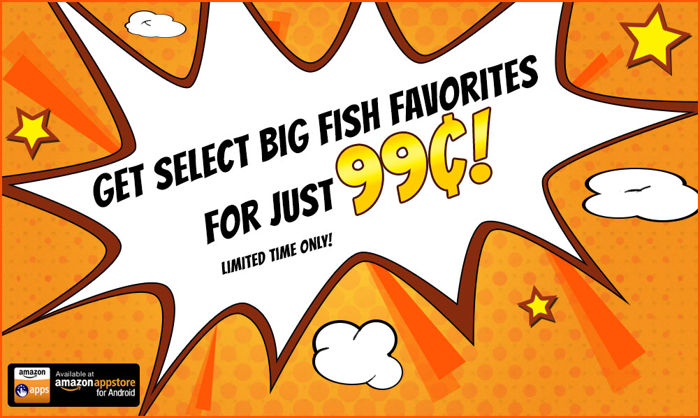 Sale for Big fish games android